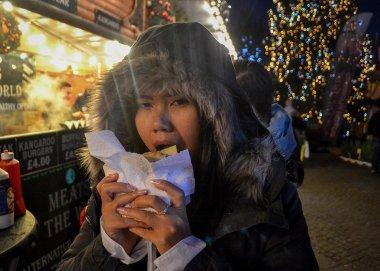 Kangaroo Burgers at Belfast Christmas Market at City Hall Northern Ireland