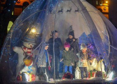 Snow Globe at Belfast Christmas Market at City Hall Northern Ireland