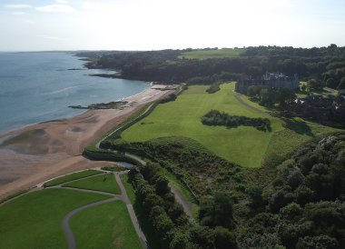 Drone Crawfordsburn Country Park, North Down Coastal Path Bangor to Holywood