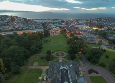 Drone Footage over Bangor Northern Ireland Town Hall by Allan Wilson