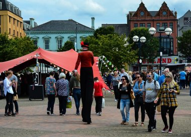 Stilt Walker at Open House Festival Seaside Revival in Bangor Northern Ireland