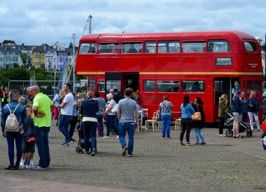 Big Red Bus, Open House Festival Seaside Revival in Bangor Northern Ireland