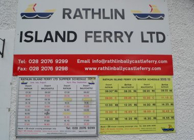 Boat Ferry Timetable, Rathlin Island Ferry Day Trip from Ballycastle