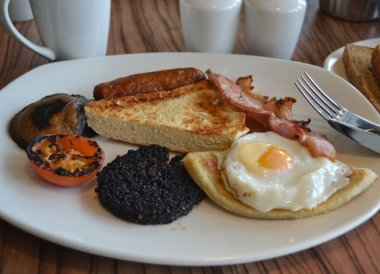 Traditional Ulster Fry in Northern Ireland Cafe
