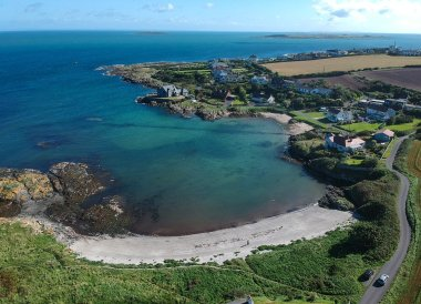 Above Orlock Beach, Bangor to Groomsport, North Down Coastal Path. Northern Ireland