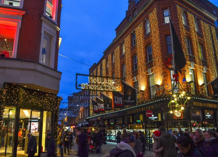 Grafton Street Lights, Christmas in Dublin City Centre Ireland
