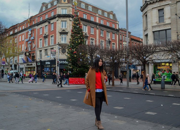 O'Connell Street, Christmas in Dublin City Centre Ireland