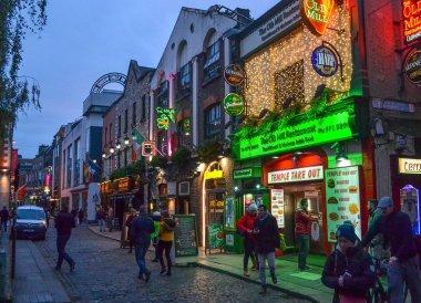 Dammas Street/Dirty Lane, Christmas in Dublin City Centre Ireland