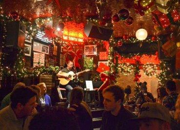 Temple Bar Pub at Christmas in Dublin City Centre Ireland