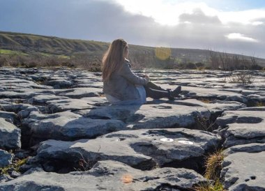 Cracked Pavement Burren, Wild Atlantic Way Road Trip West Coast of Ireland