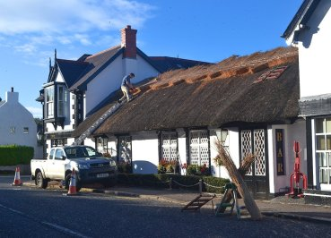 Thatching Roof of the Old Inn Crawfordsburn Hotel, Bangor