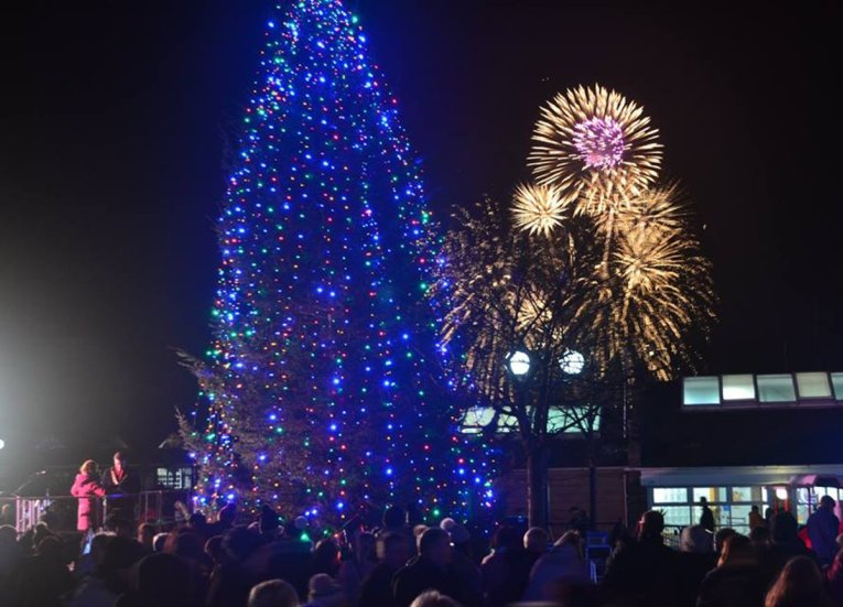 Christmas Light Turn On in Bangor Northern Ireland Seafront