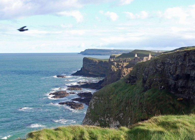 Dunluce Castle along GIants Causeway Coastal Route Tourist Attractions