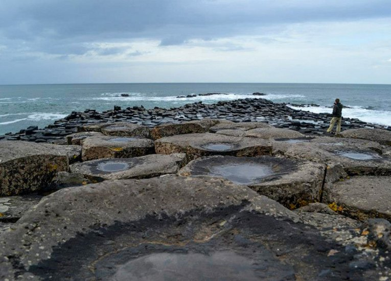 Basalt Stones of theGIants Causeway Coastal Route Tourist Attractions
