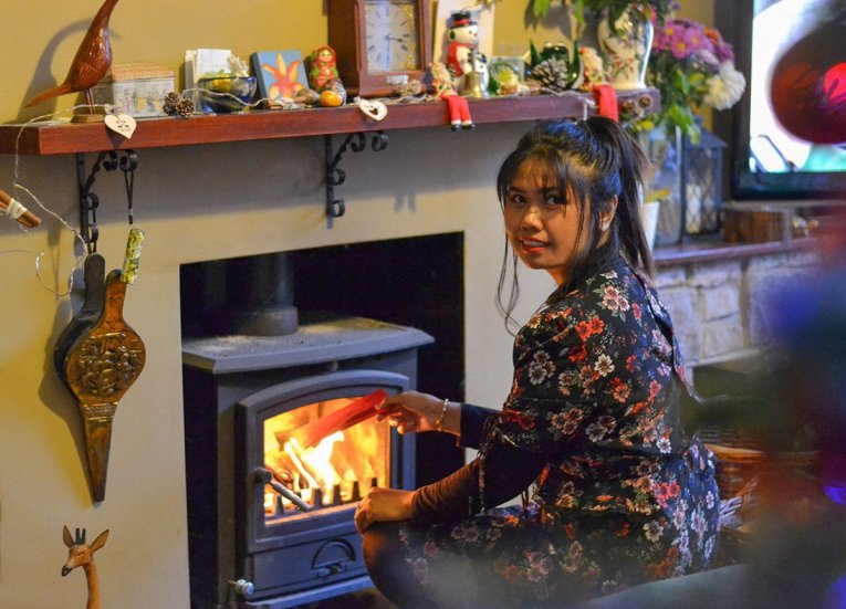 Burning Santa's Letter, Traditions of Christmas in Northern Ireland, Bangor NI