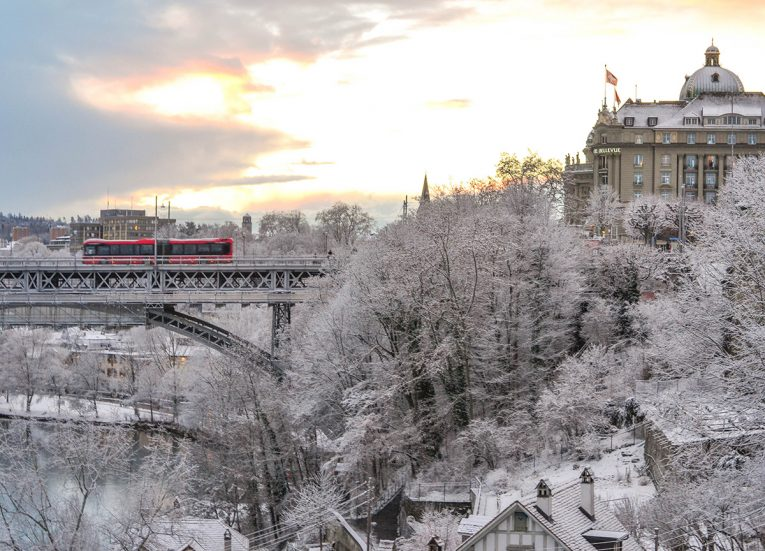 Bern in Snow in Winter, Interrail in Winter: Train Travel in Europe Itinerary