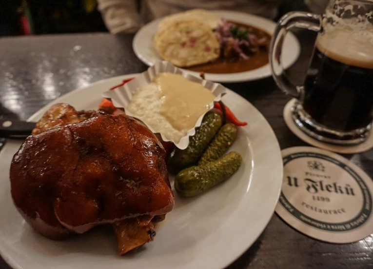 Czech Pork Knuckle at U Fleku, Interrail in Winter: Train Travel in Europe Itinerary