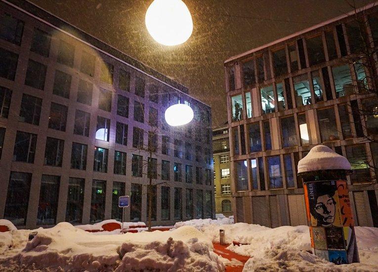 Saint Gallen in Snow, Interrail in Winter Train Travel in Europe