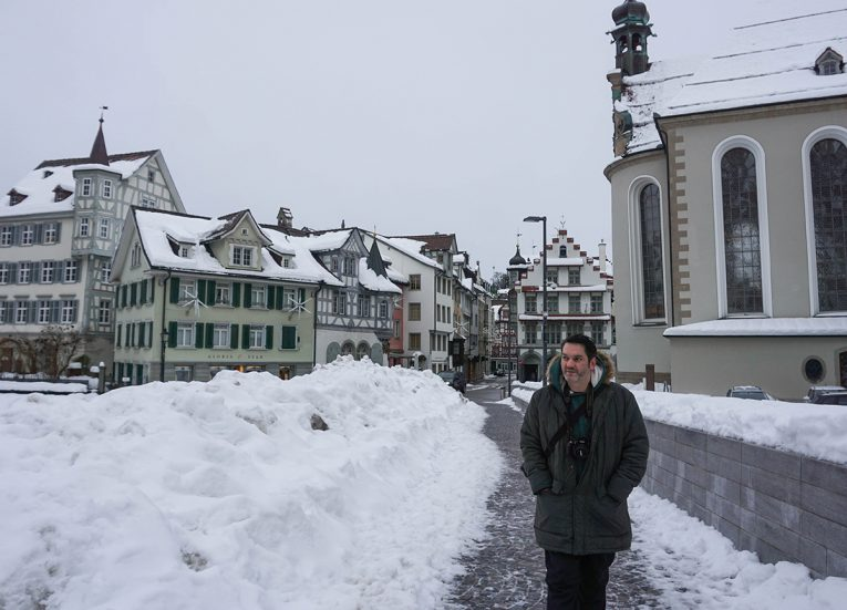 Allan Wilson in Saint Gallen, Interrail in Winter: Train Travel in Europe Itinerary