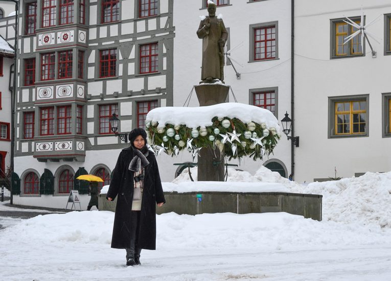 Fanfan Wilson in Saint Gallen, Interrail in Winter: Train Travel in Europe Itinerary