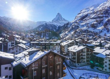 Sunrise at Matterhorn in Zermatt, Interrail in Winter: Train Travel in Europe Itinerary