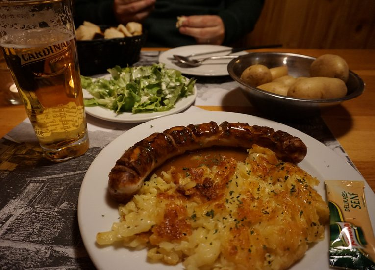 Bratwurst and Swiss Rosti Switzerland, Interrail in Winter: Train Travel in Europe Itinerary