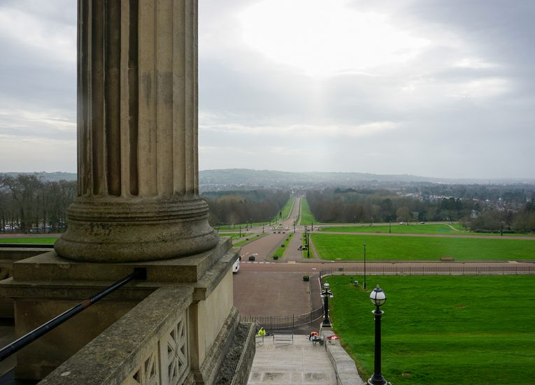 Balcony Views from the Members Dining Room at Stormont Parliament Buildings