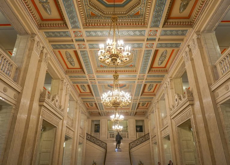The Main Hall on Tour of Stormont Parliament Buildings in Belfast NI