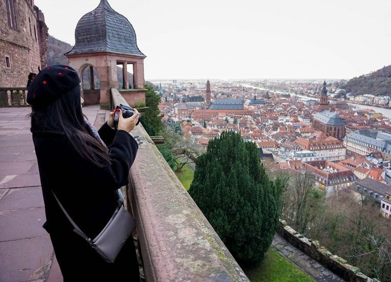 Views over Heidelberg Germany, Interrail in Winter: Train Travel in Europe Itinerary