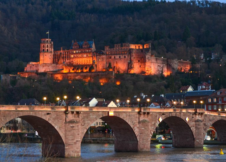 Heidelberg Bridge Germany, Interrail in Winter: Train Travel in Europe Itinerary