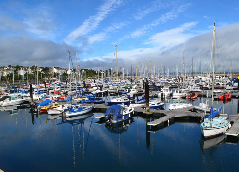 Bangor Marina in Summer Time in Bangor Northern Ireland