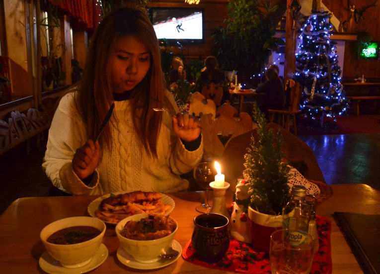 Polish food at 7 Kotow seven cats restaurant in Zakopane-Poland in Winter Travel