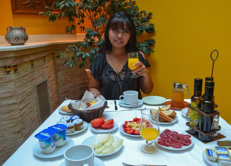 Spanish Breakfast in Catalan. Culinary Travels. Traditional National Foods in Europe