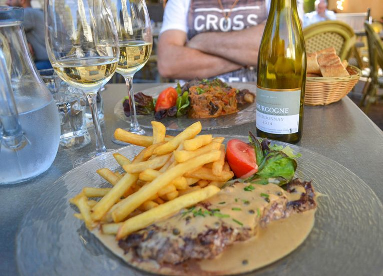 Steak Frite in France. Culinary Travels. Traditional National Foods in Europe