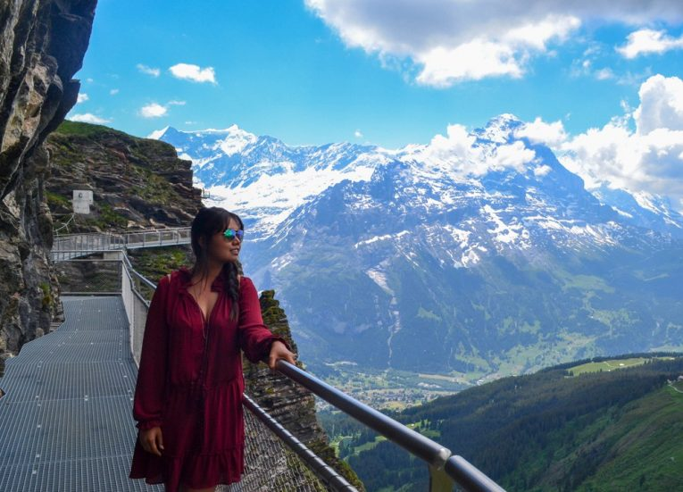 First Cliff Walk Bridge and Observation Platform on Jungfrau Travel Pass