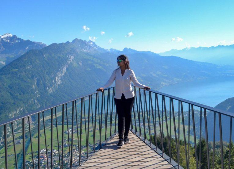 Views over Interlaken from Above on Harder Kulm Funicular Railway