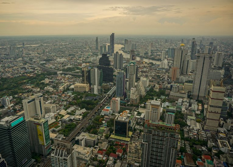Views from King Power Mahanakhon Building Observatory Deck
