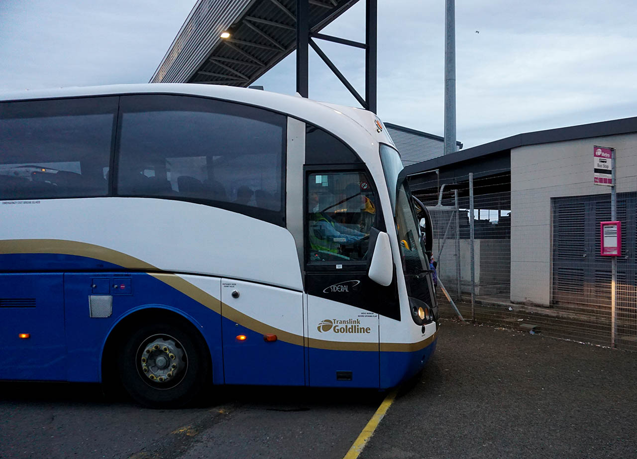 Bus from Belfast Ferry Port to Belfast City Centre