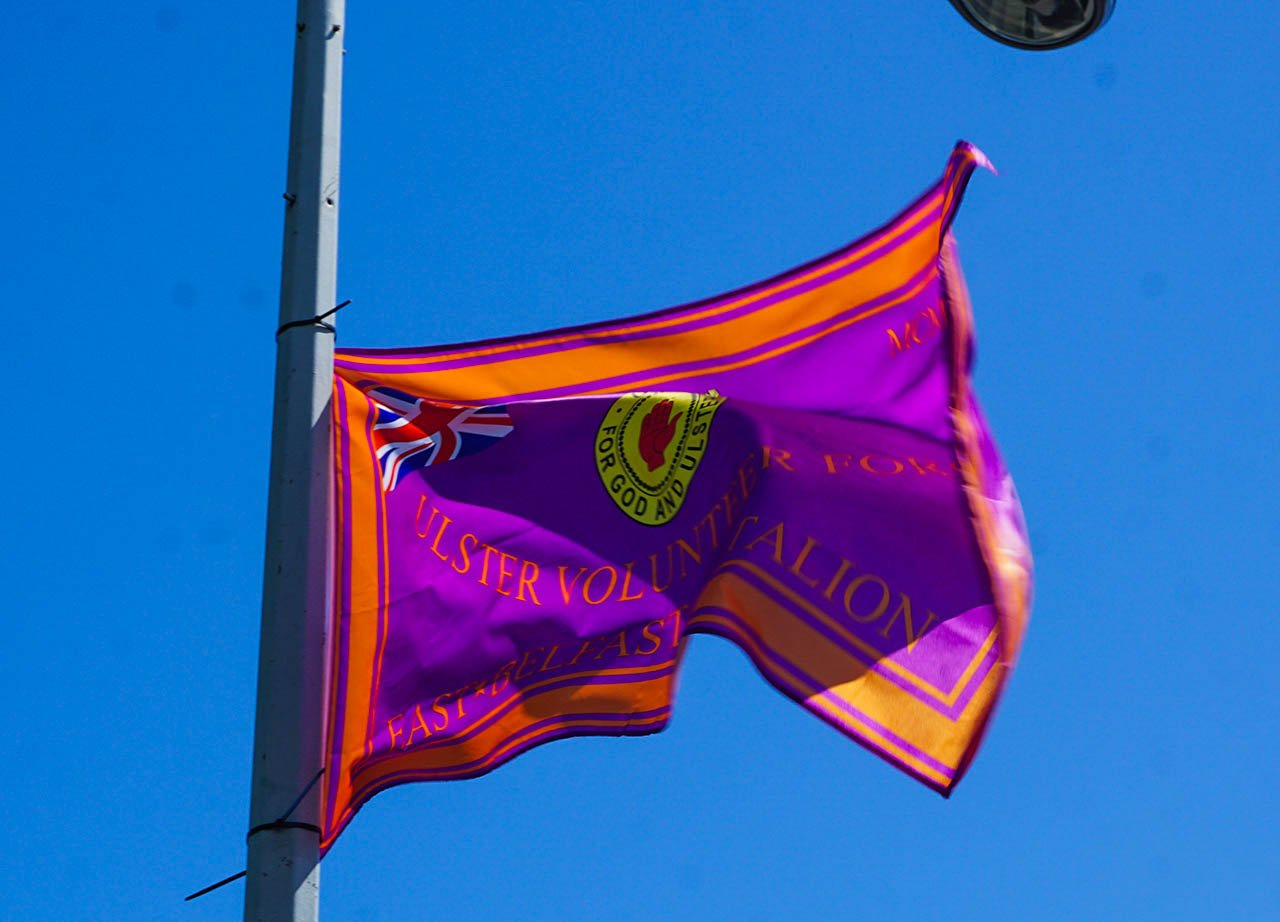 UVF Ulster Volunteer Force Flag East Belfast Northern Ireland