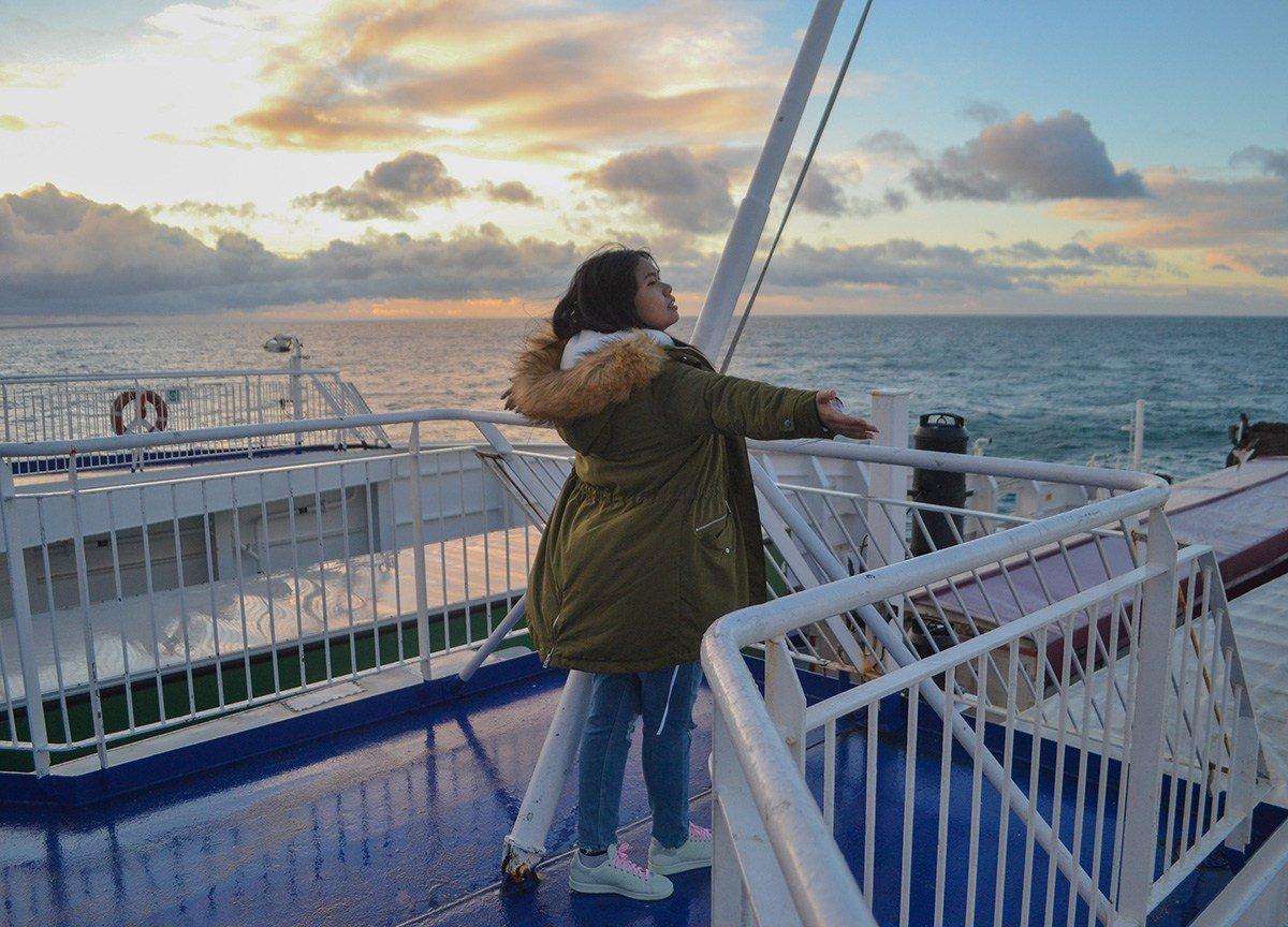 Fanfan Wilson on Belfast to Cairnryan Boat (Stena Line) from Ireland to Scotland