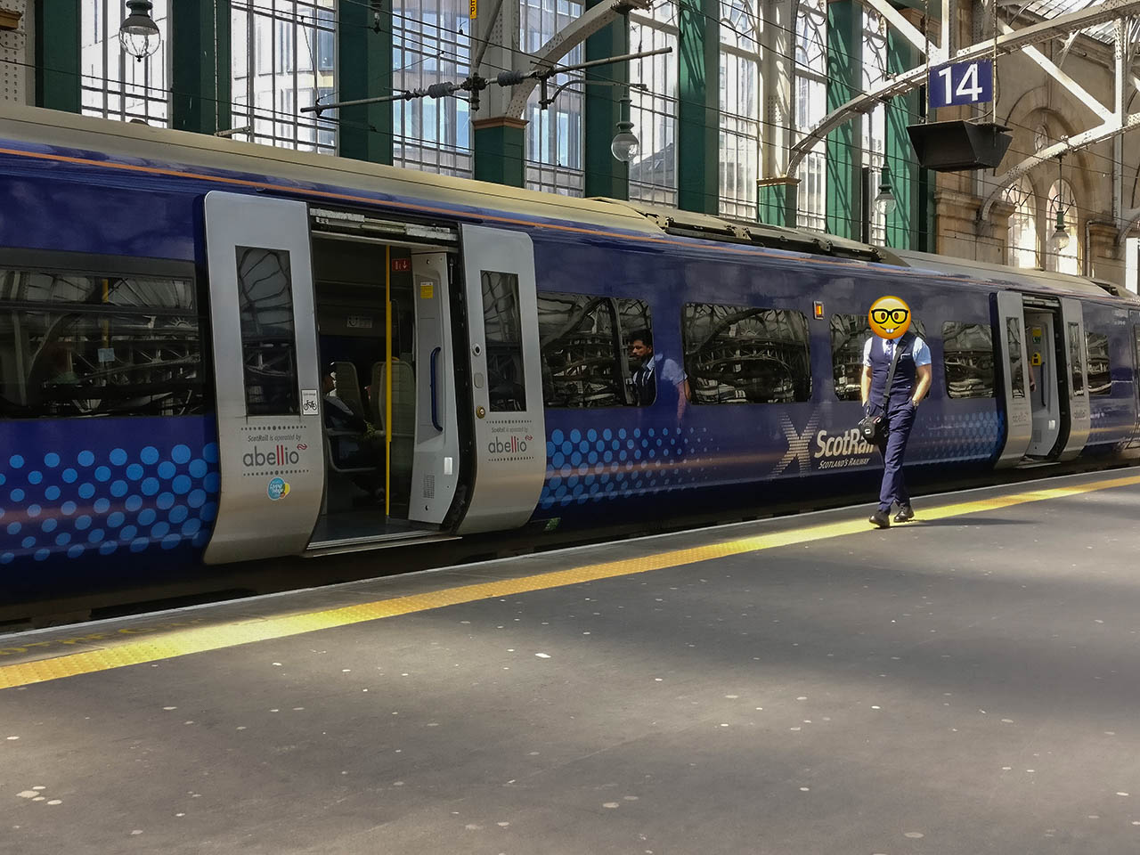 Scotrail Trains at Glasgow Train Station for Travel in Scotland