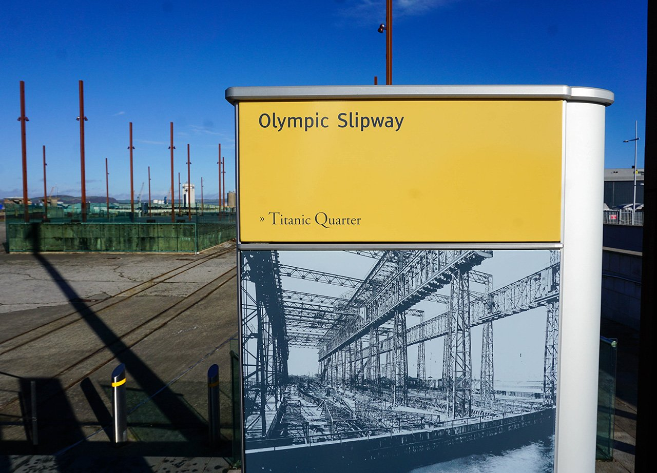 Olympic Slipway for RMS Olympic Ship at Titanic Quarter Belfast