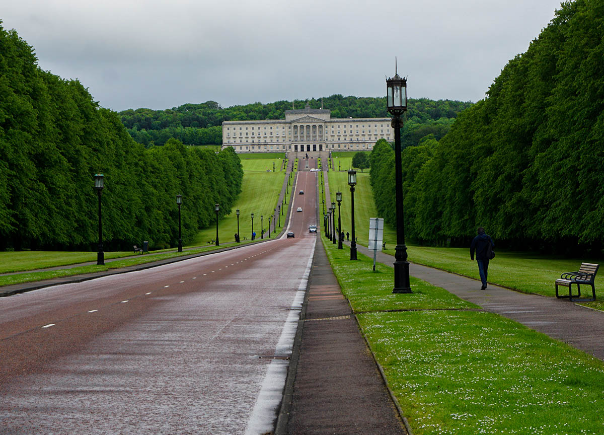Prince of Wales Avenue Leading to Stormont Parliament Buildings