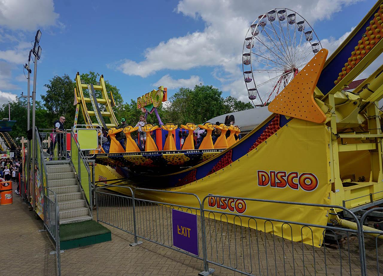 Disco Boats Roller Coaster at M&D Theme Park Stena Line Tour
