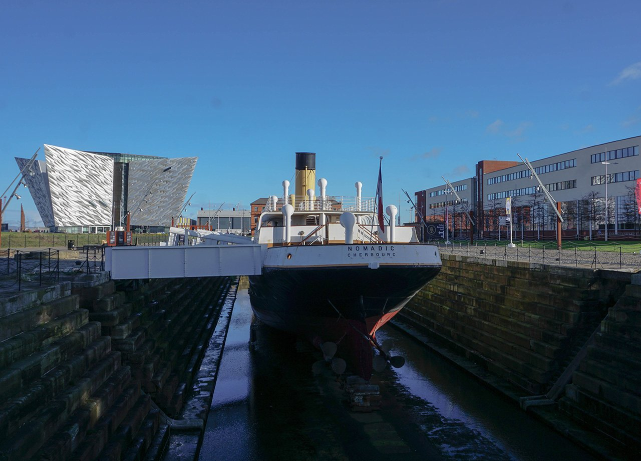SS Nomadic Boat at Titanic Belfast Museum Northern Ireland