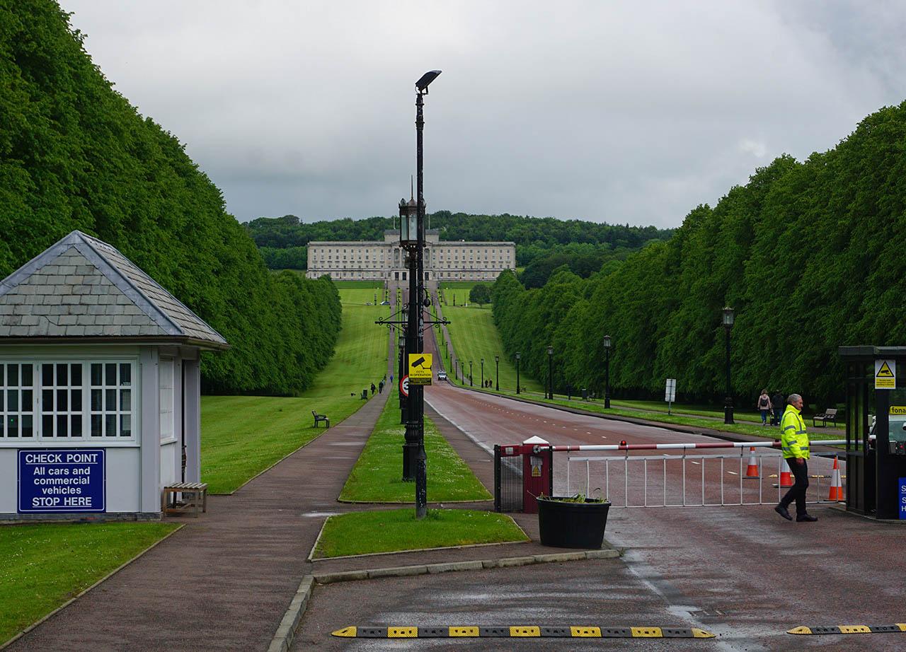 Security Gates at Front Entrance to Stormont Estate Belfast