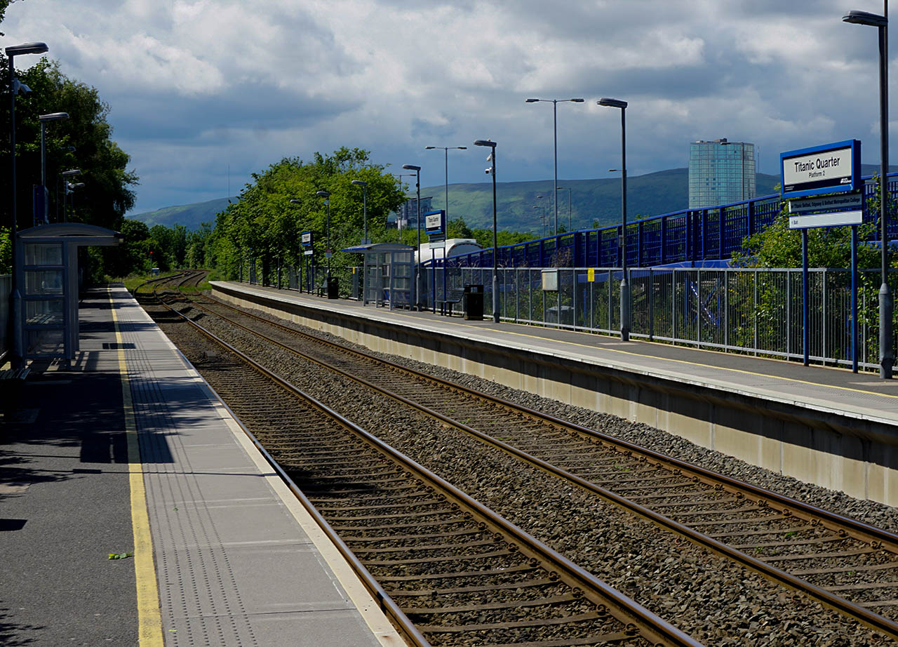 Titanic Quarter Train Station East Belfast Northern Ireland