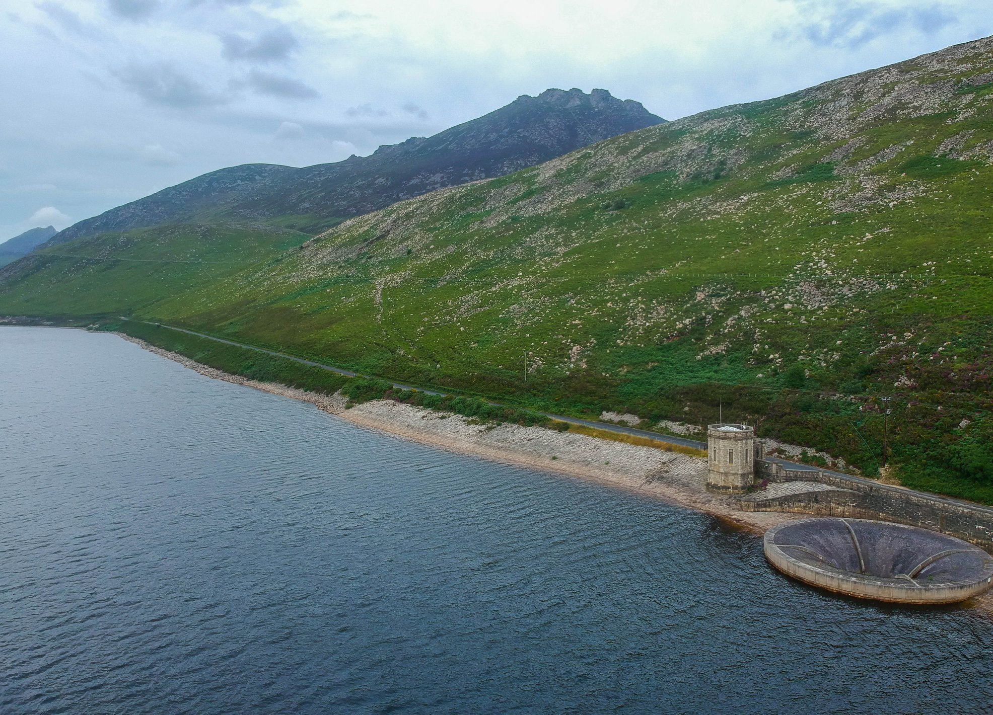 Drone Images of Silent Valley in Mourne Mountains