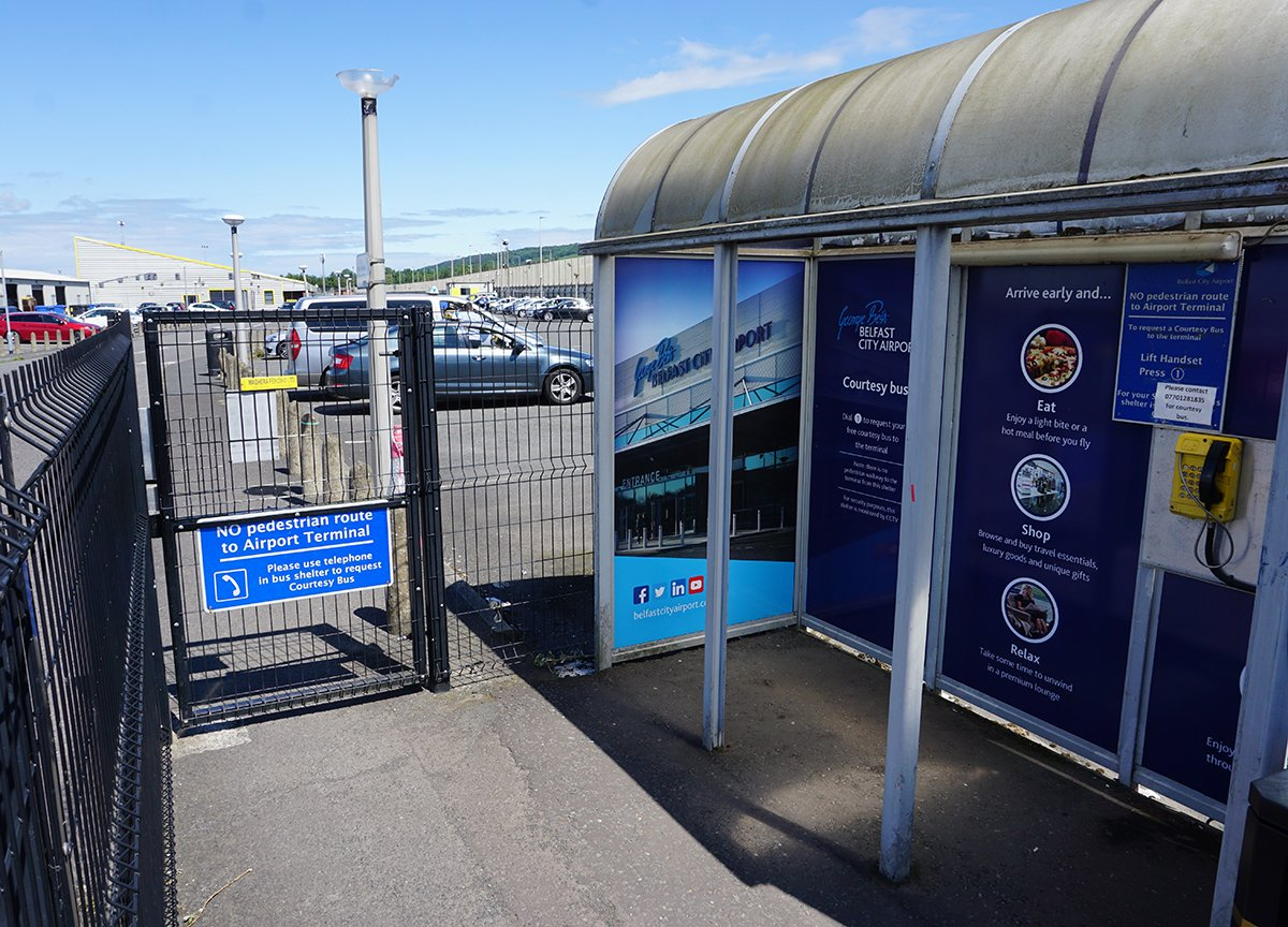 Free Shuttle Bus Transfer at Belfast City Airport Sydenham Station