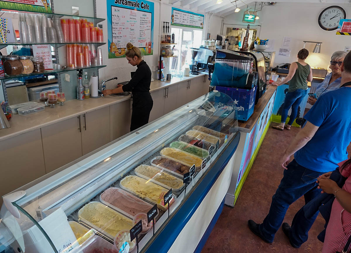 Free range Ice Cream at Streamvale Cafe Dundonald Northern Ireland